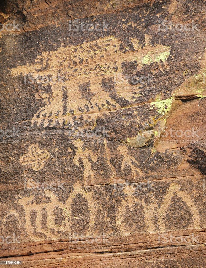 Petroglyph Native American Indian Art royalty-free stock photo