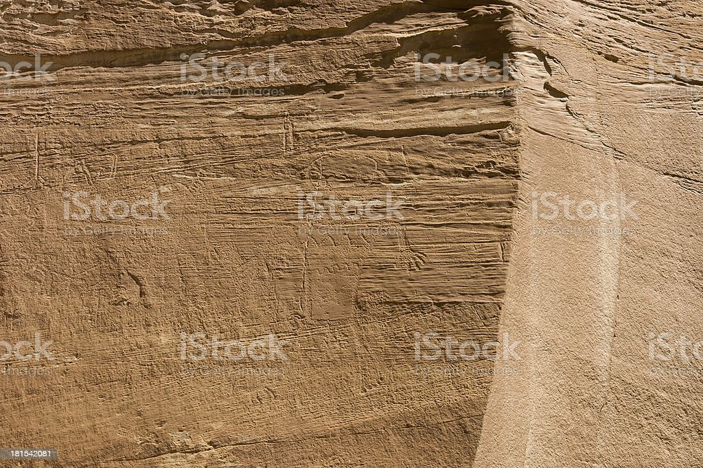 Petroglyph or rock art carvings of Native Americans royalty-free stock photo