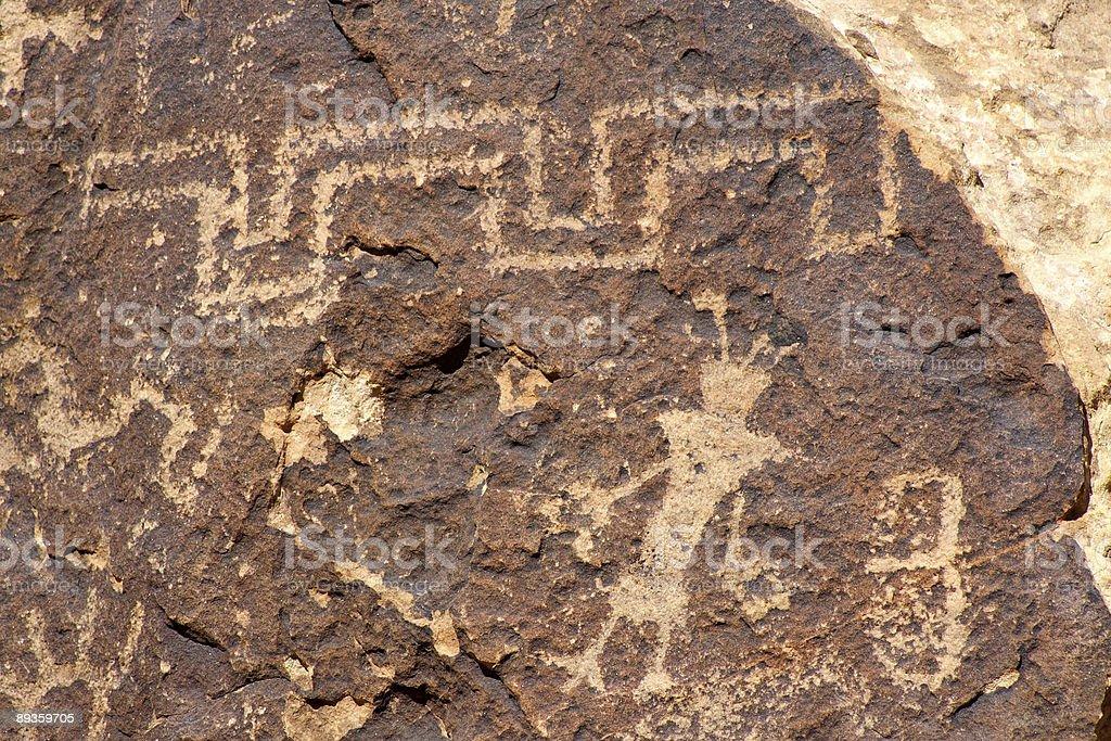 Petroglyph panel royalty-free stock photo