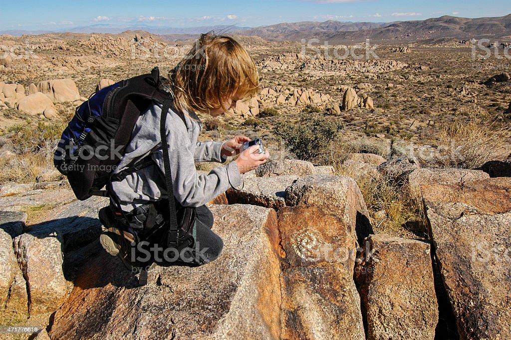 Petroglyph photography stock photo