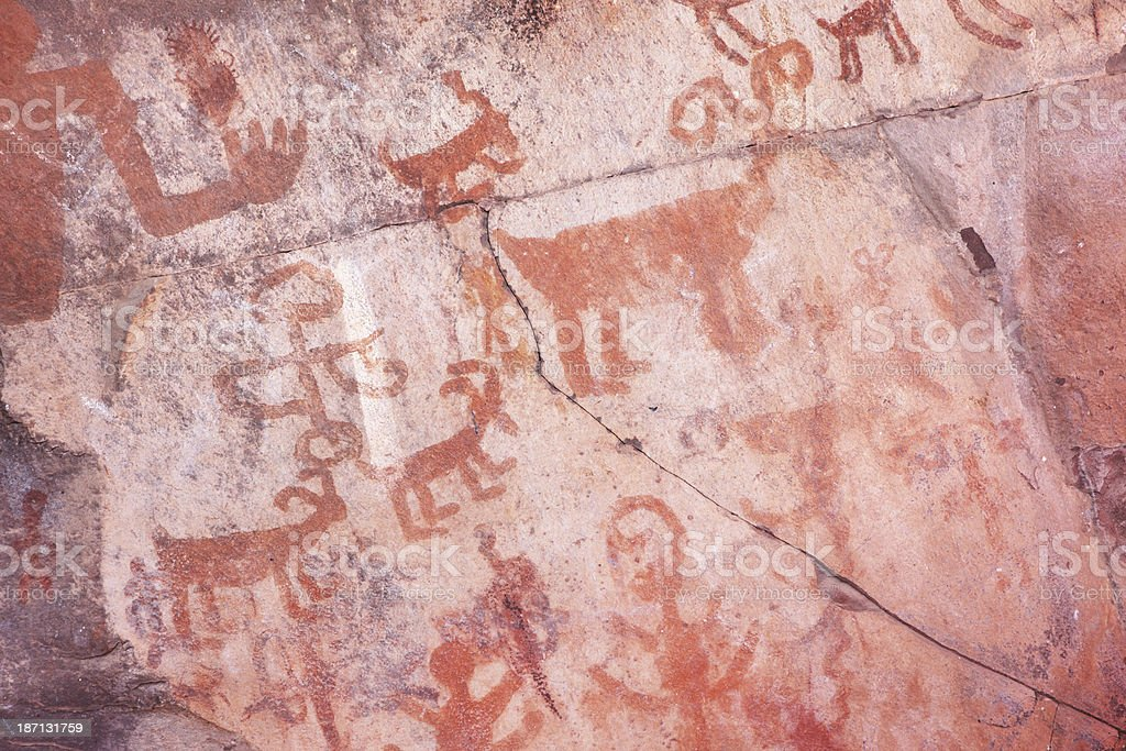 Petroglyph Pictograph Anasazi Pre-Columbian Art royalty-free stock photo