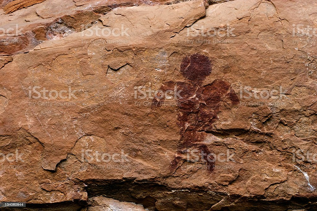 Petroglyph royalty-free stock photo