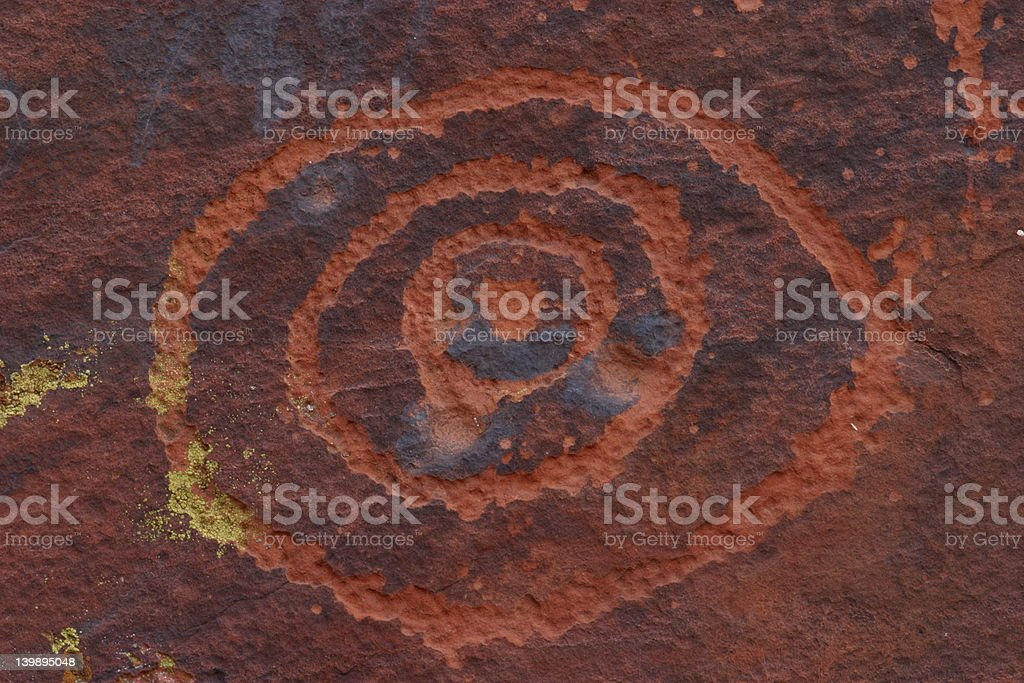 V-V Petroglyph royalty-free stock photo