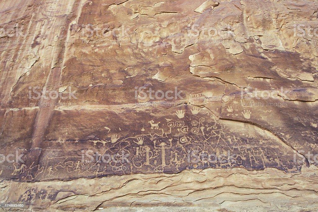 Petroglyph Point at Mesa Verde National Park, Colorado stock photo