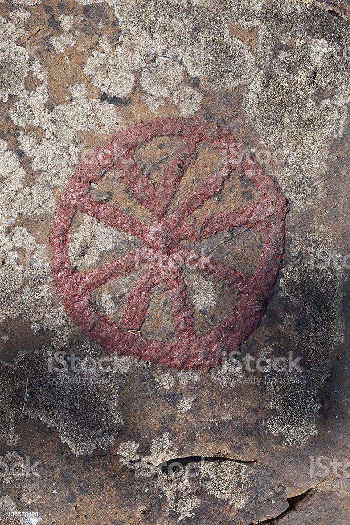 Petroglyph rock paintings royalty-free stock photo
