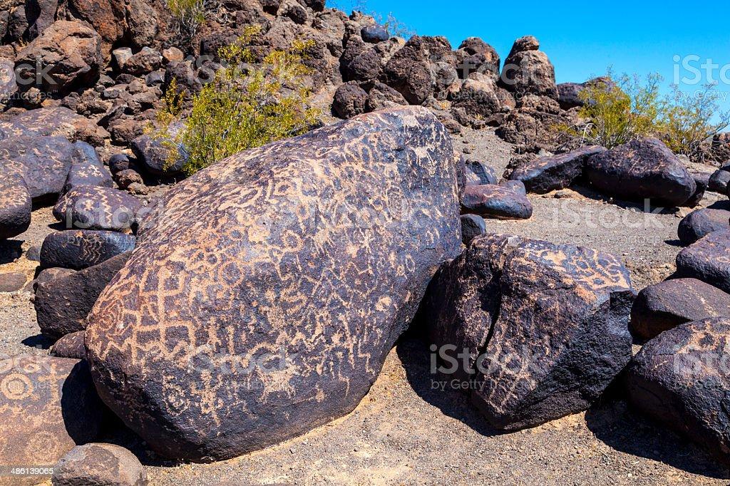 Petroglyph Site, Near Gila Bend, Arizona royalty-free stock photo
