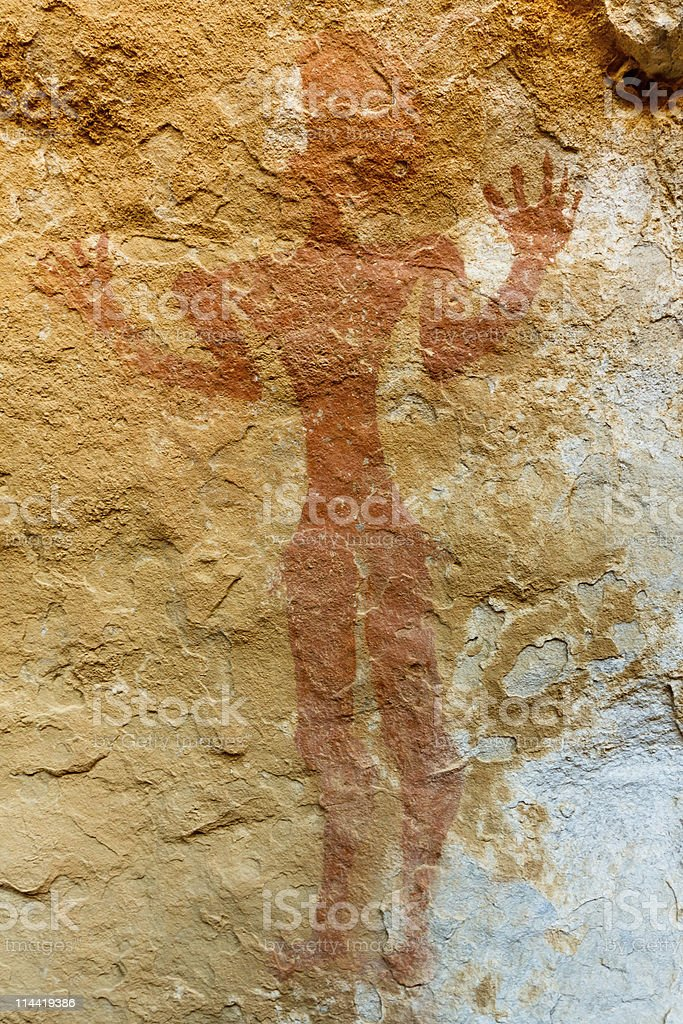 Petroglyphs - Akakus (Acacus) Mountains, Sahara, Libya stock photo