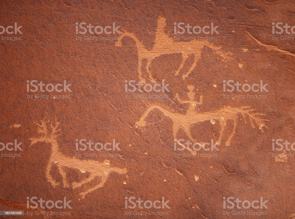 petroglyphs at Canyon De Chelly royalty-free stock photo