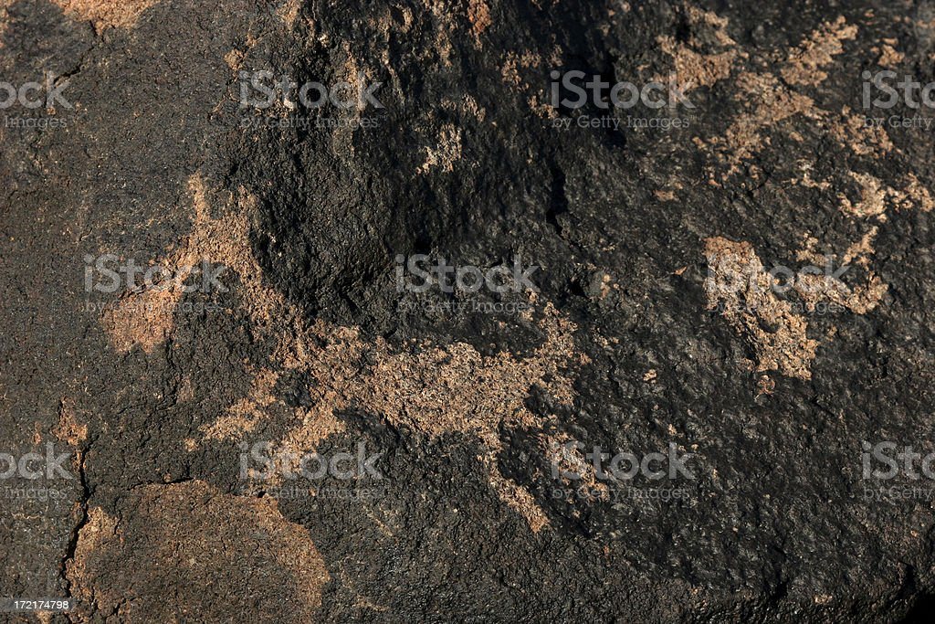 petroglyphs at gila bend arizona stock photo