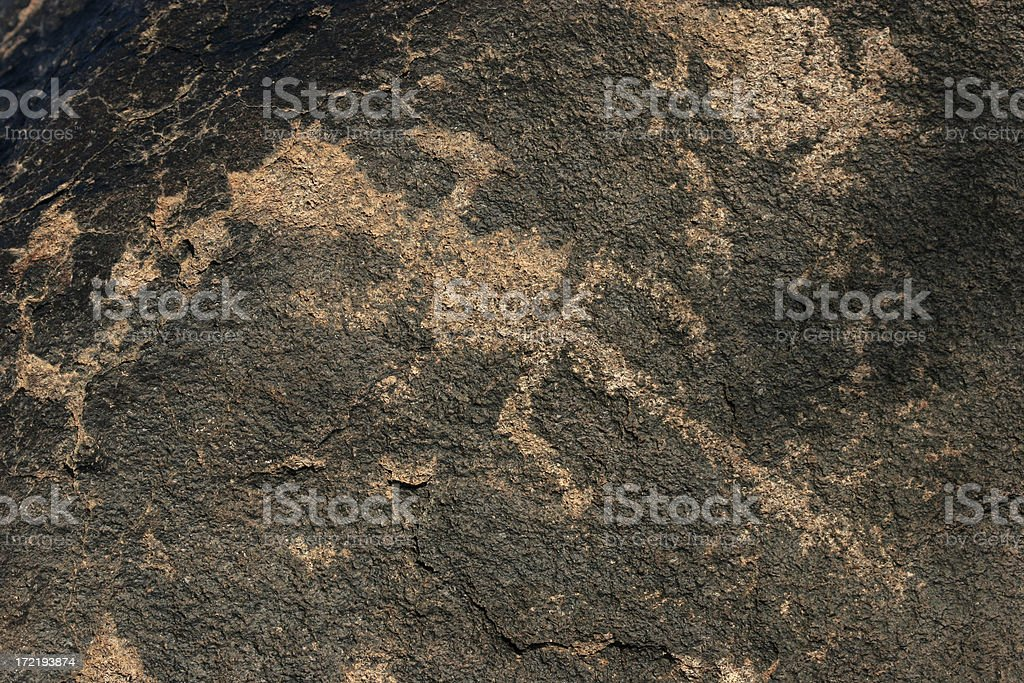 petroglyphs at gils bend arizona stock photo