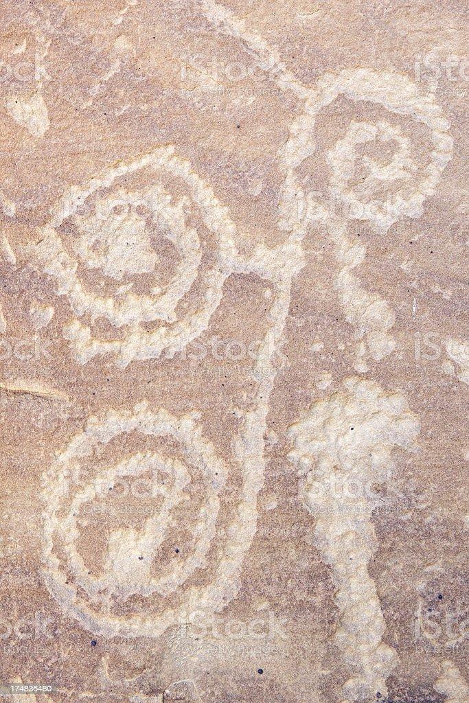 Petroglyphs at Mesa Verde National Park, Colorado royalty-free stock photo