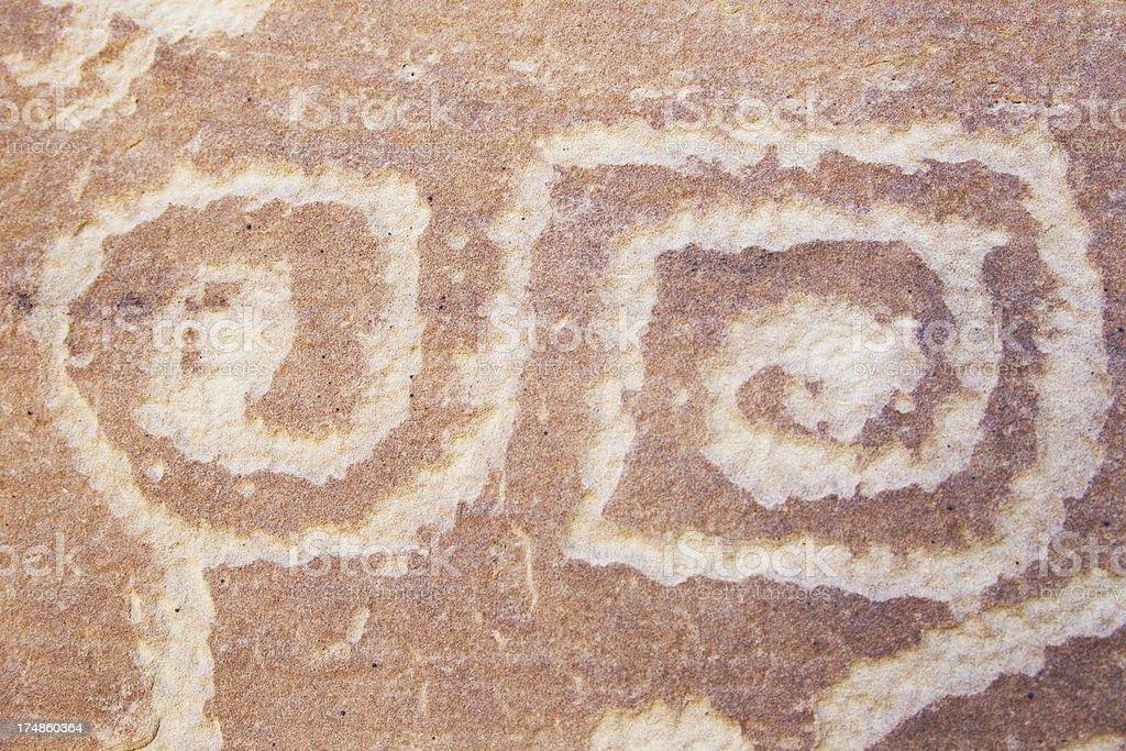 Petroglyphs at Mesa Verde National Park, Colorado stock photo