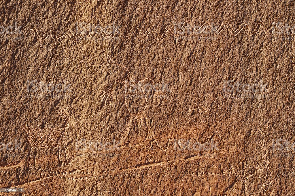 Petroglyphs at Monument Valley royalty-free stock photo