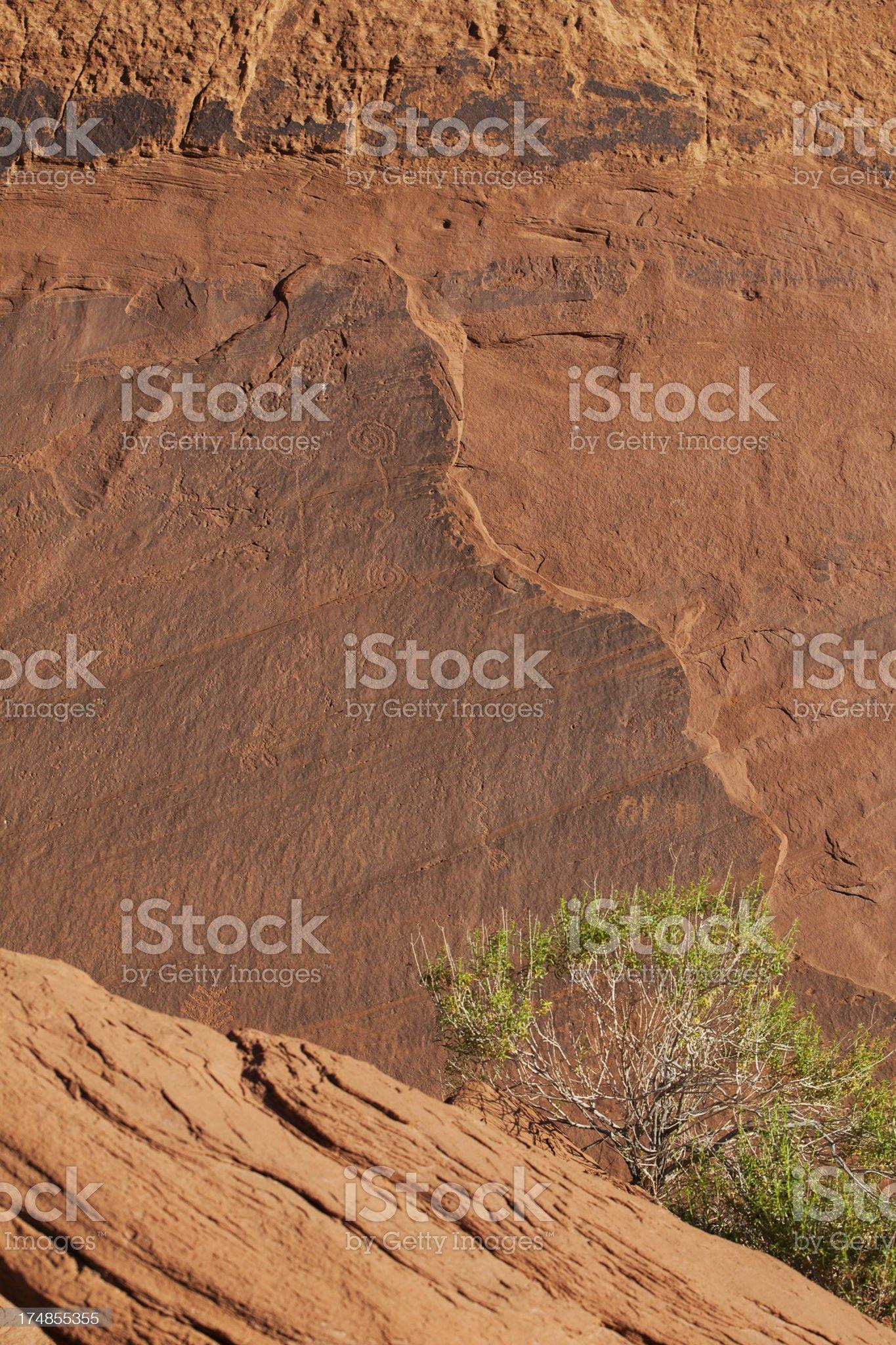 Petroglyphs at Monument Valley royalty-free stock photo