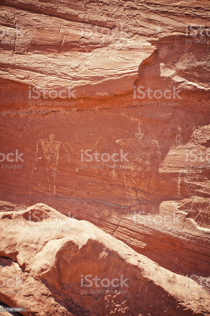 Petroglyphs at Monument Valley stock photo