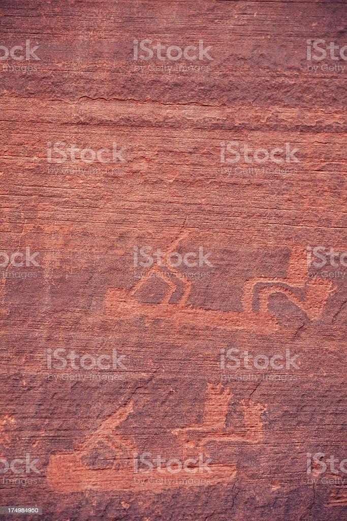 Petroglyphs at Monument Valley stock photo