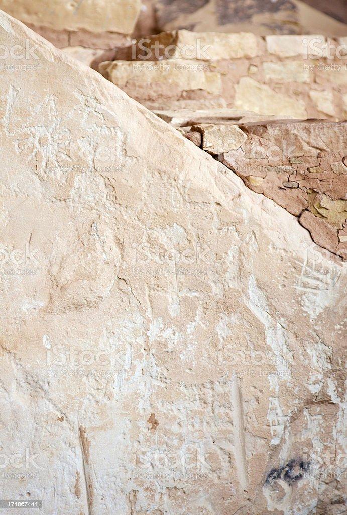 Petroglyphs at Step House Ruins - Mesa Verde, Colorado royalty-free stock photo