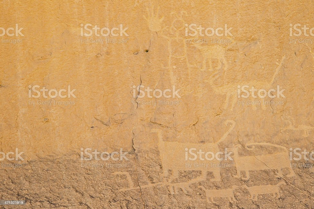 Petroglyphs - Chaco Culture National Historical Park royalty-free stock photo