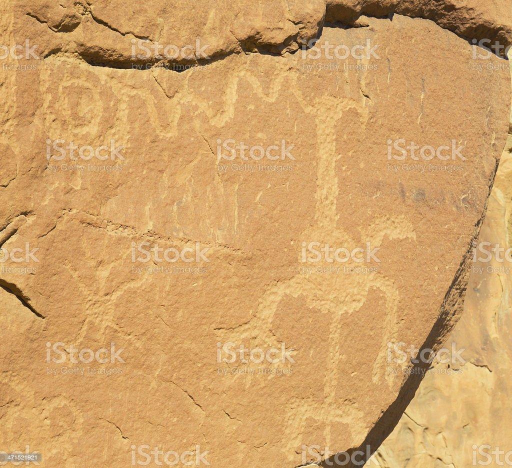 Petroglyphs - Chaco Culture National Historical Park stock photo