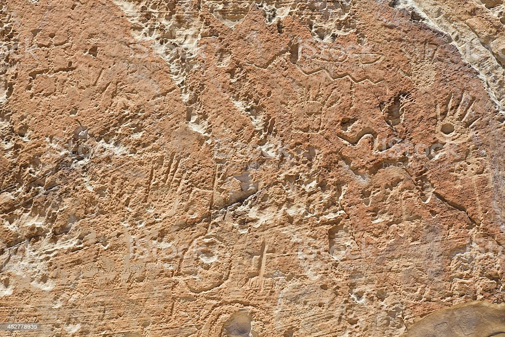 Petroglyphs - El Morro National Monument stock photo