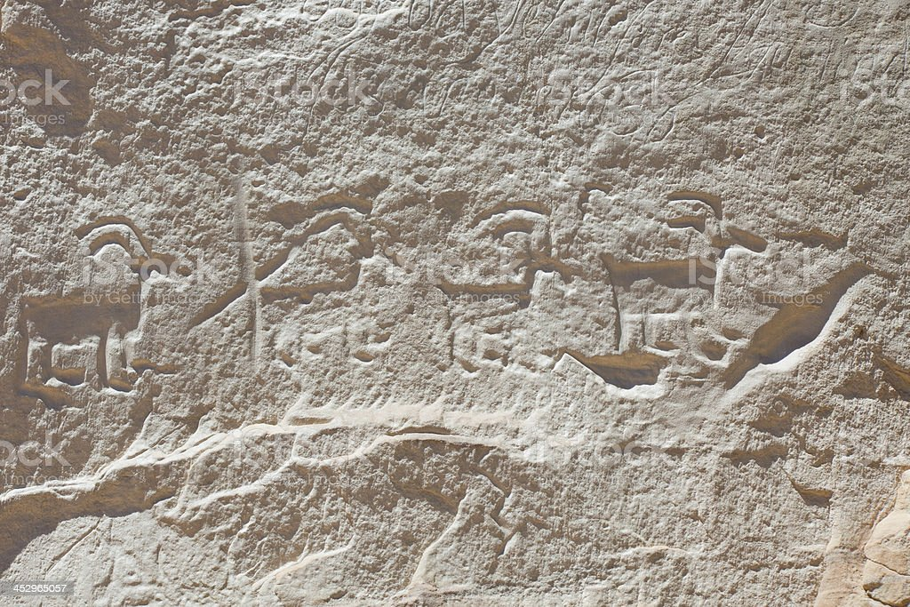 Petroglyphs - El Morro National Monument stock photo