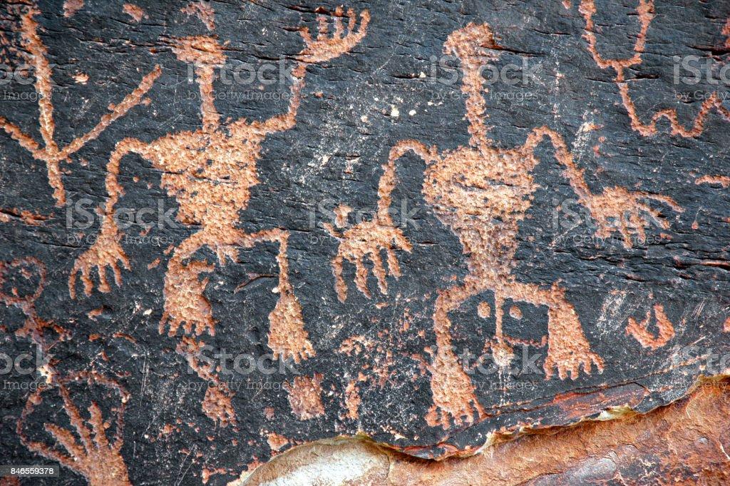 Petroglyphs Fertility stock photo