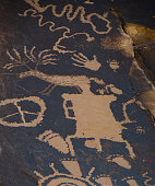 Petroglyphs from Newspaper Rock State Historic Monument