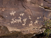Petroglyphs in Arches national monument, Utah