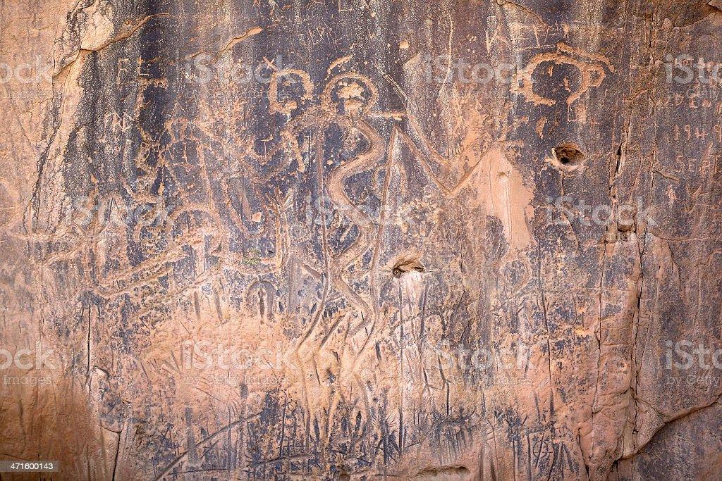 Petroglyphs in South Dakota royalty-free stock photo