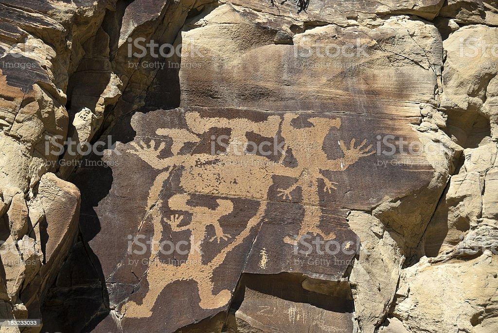 Petroglyphs in Wyoming stock photo