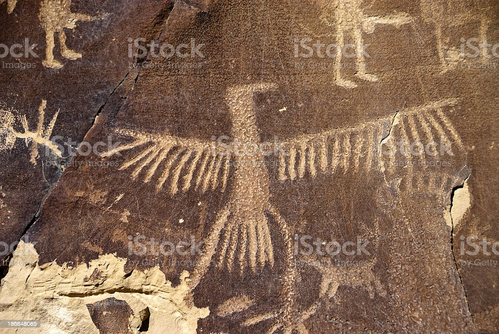 Petroglyphs in Wyoming stock photo