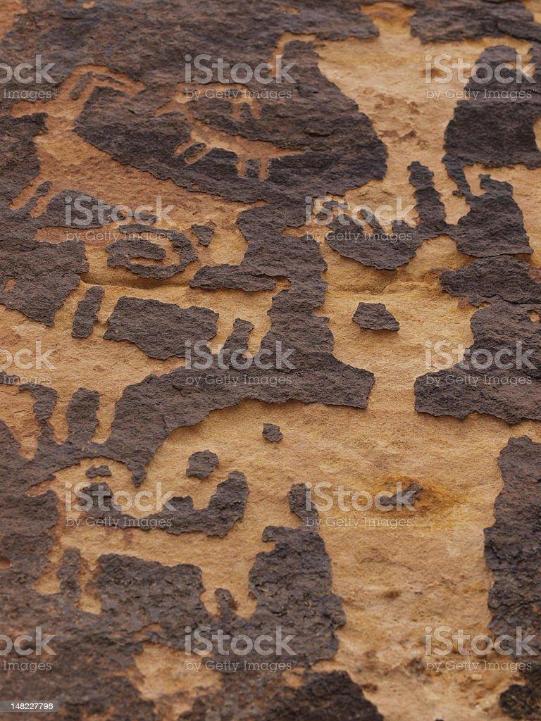 Petroglyphs of Canaan Gap royalty-free stock photo