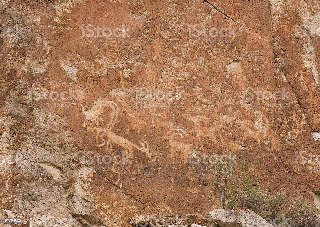 Petroglyphs of Clear Creek Canyon royalty-free stock photo