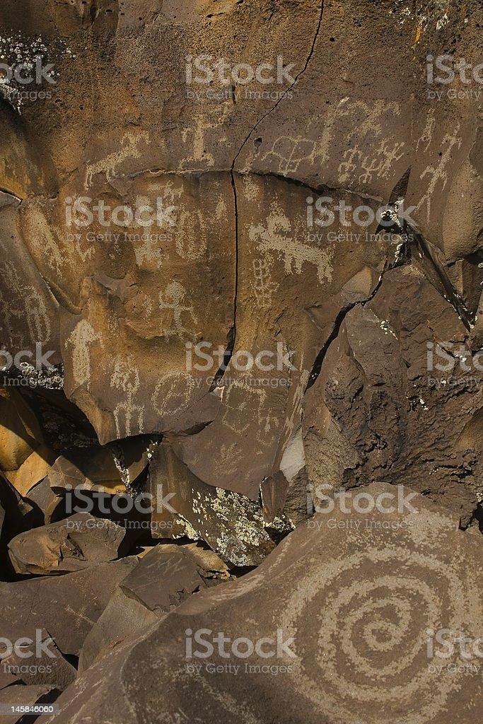 Petroglyphs of Nampaweep royalty-free stock photo