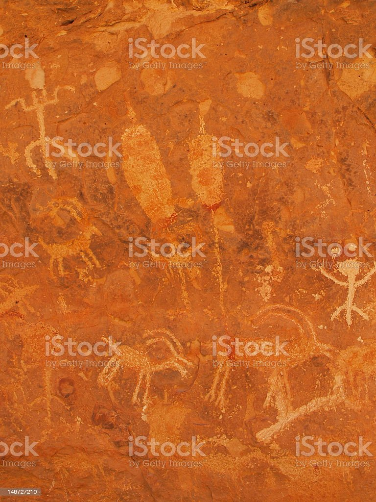 Petroglyphs of Snake Gulch royalty-free stock photo