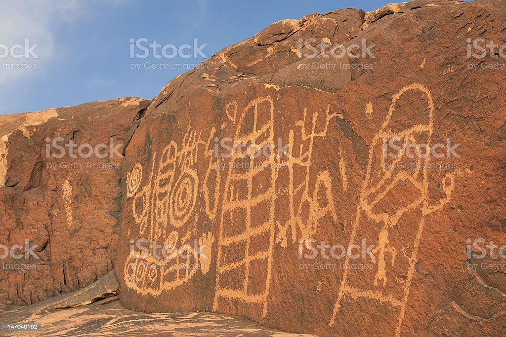 Petroglyphs of Southern Utah royalty-free stock photo