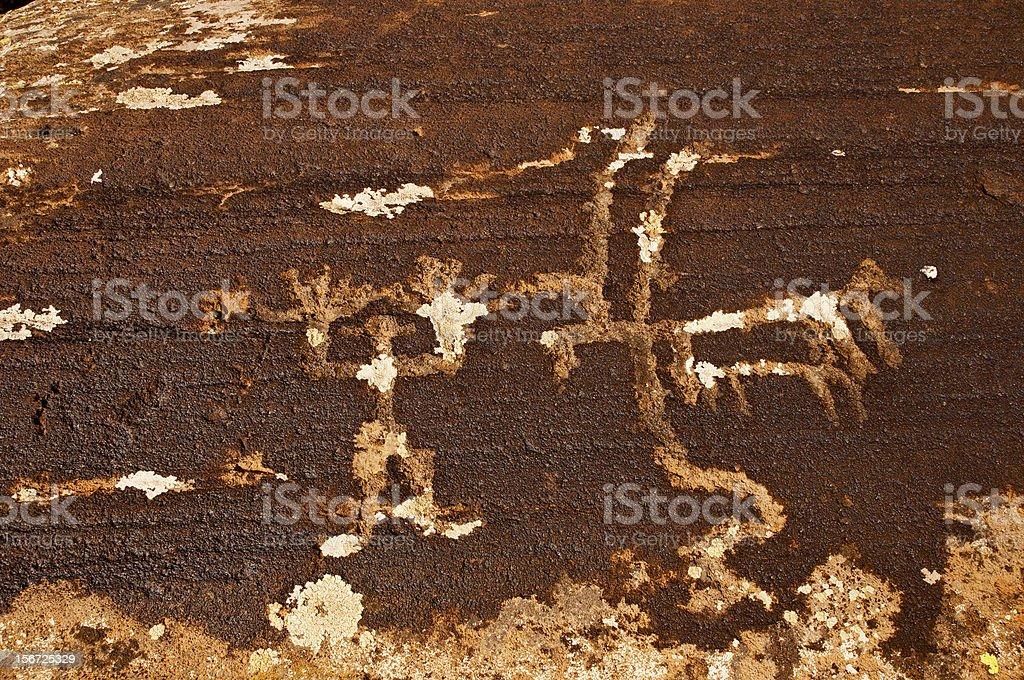 Petroglyphs of Ughtasar, Armenia royalty-free stock photo