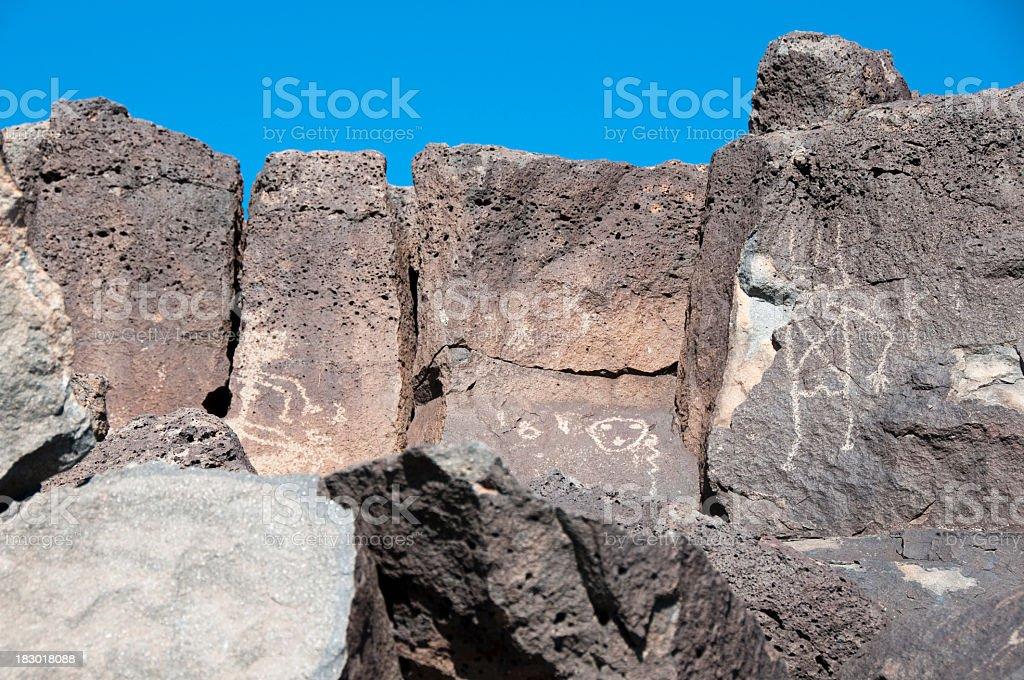 petroglyphs, Petroglyph National Monument, Albuquerque, New Mexico stock photo