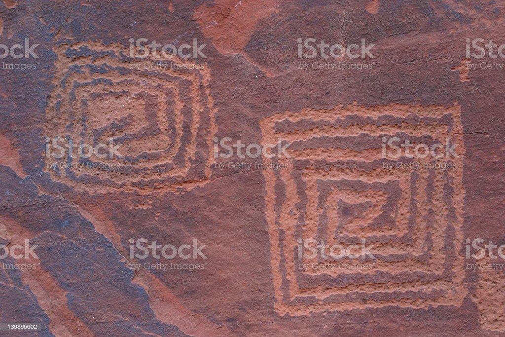 V-V Petroglyphs royalty-free stock photo