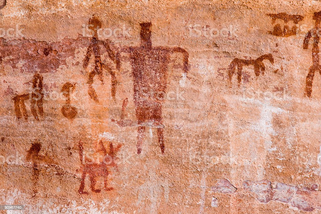 Petroglyphs royalty-free stock photo