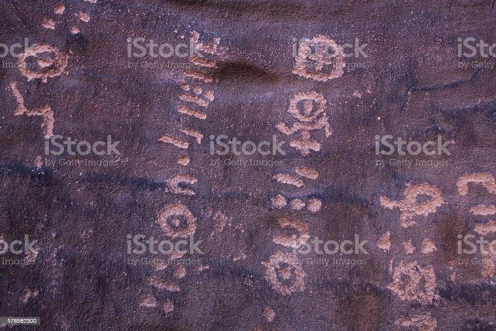 Petroglyphs, Sahara desert royalty-free stock photo