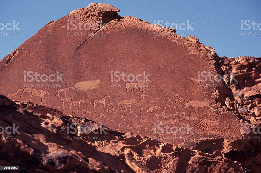 Petroglyphs, Twyfelfontein royalty-free stock photo