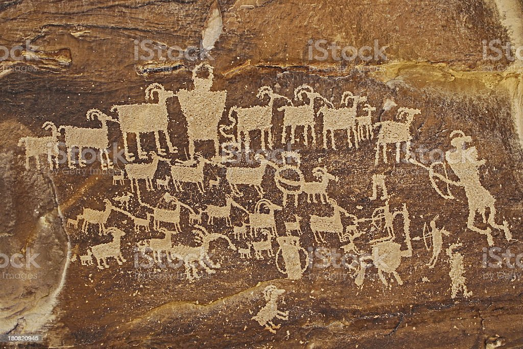 Petroglyphs - Utah stock photo