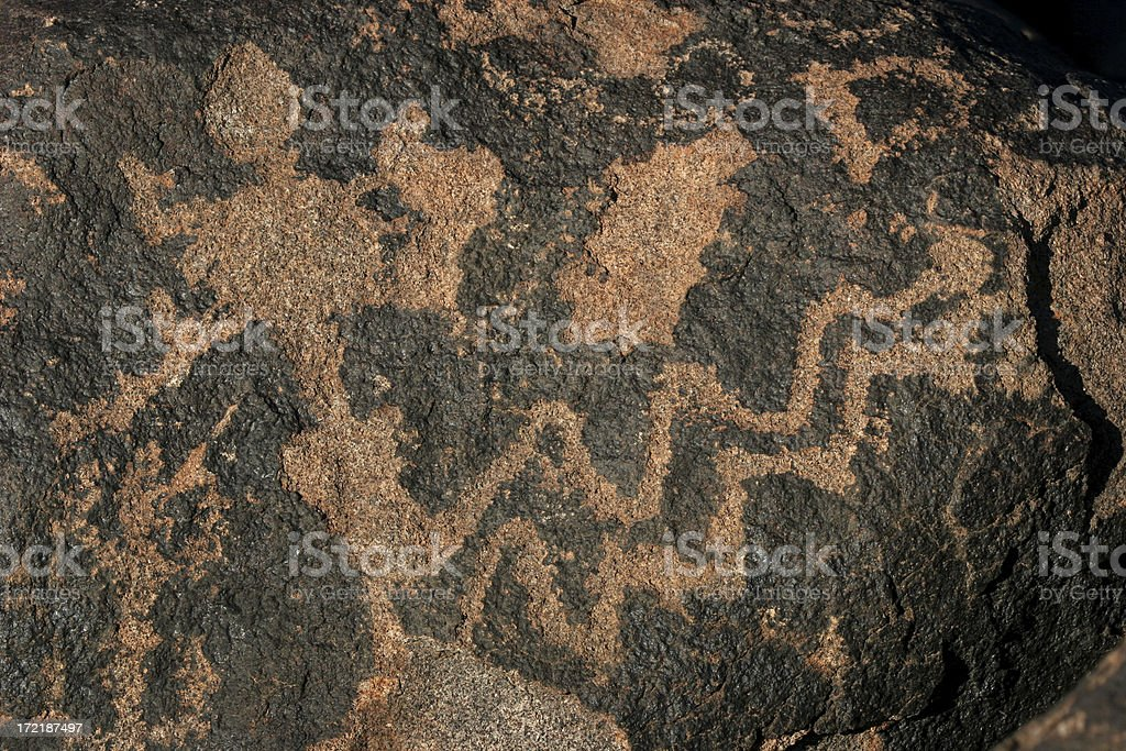 petroglyps at gila bend arizona stock photo