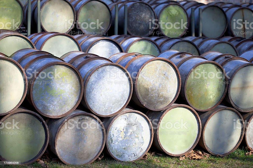 petrol barrels royalty-free stock photo