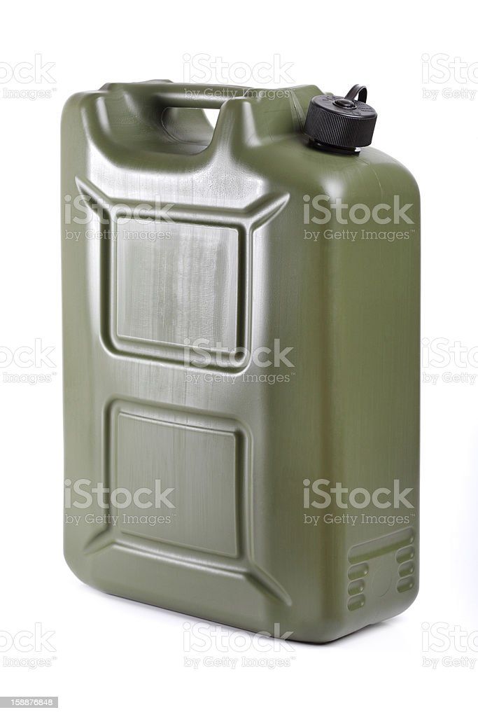 Petrol can, on white background royalty-free stock photo