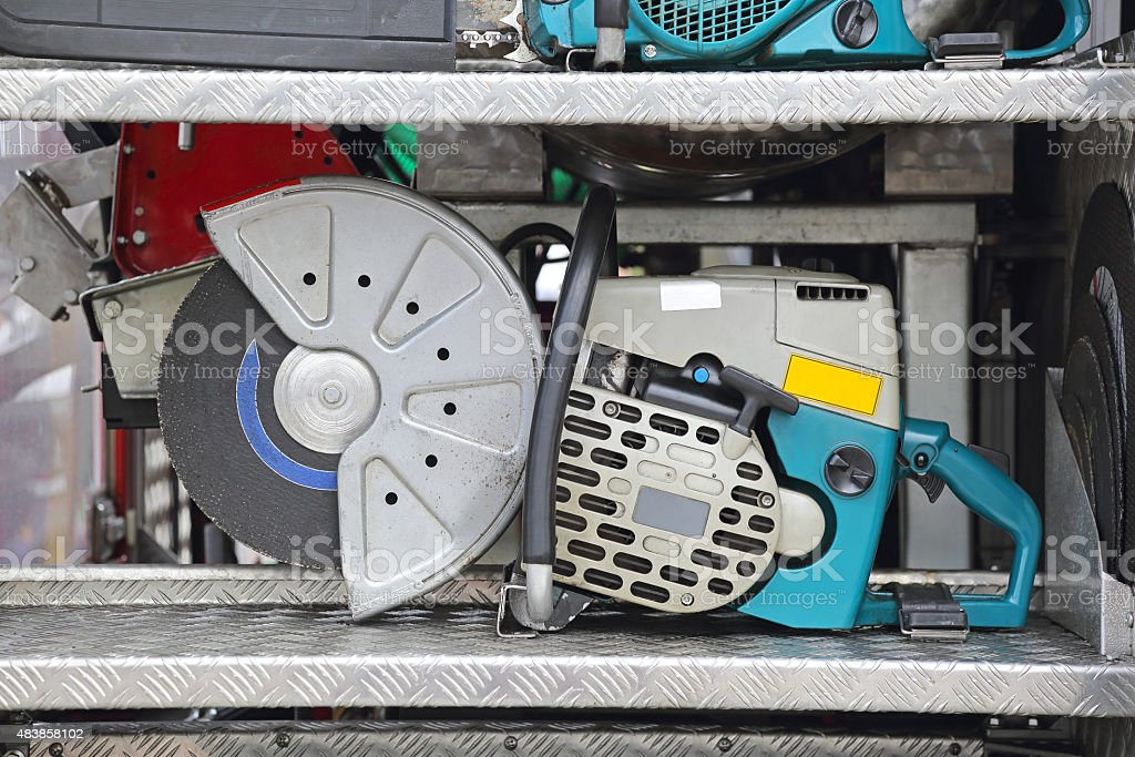 Petrol Circular Saw stock photo