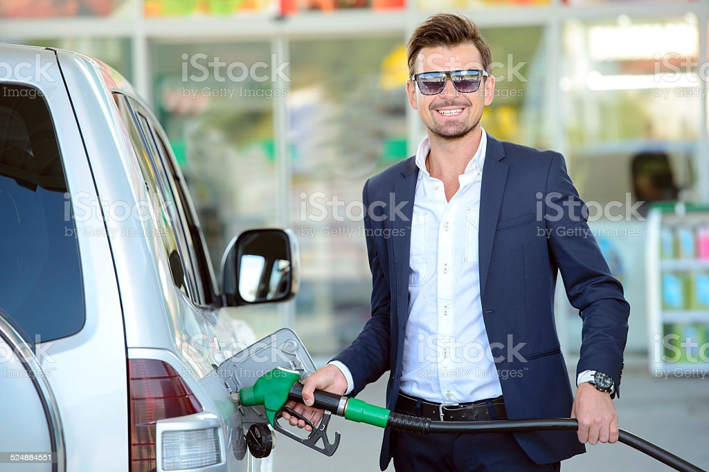 Petrol filling station stock photo