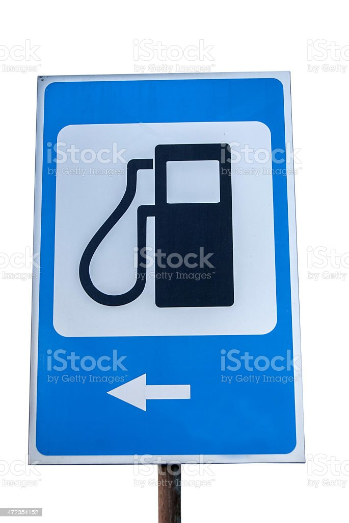 Petrol filling station sign stock photo