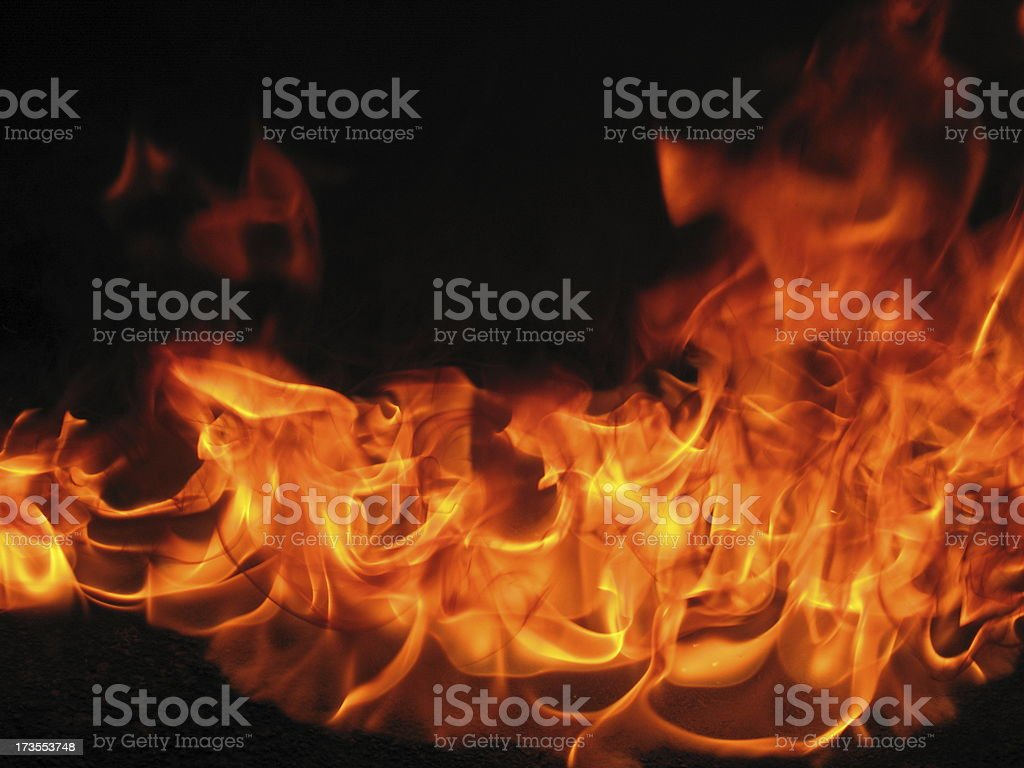 Petrol fire at night stock photo